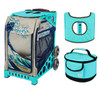 Zuca Sport Bag - Great Wave with Gift  Turquoise/Brown Seat Cover and Turquoise Lunchbox (Turquoise Frame)