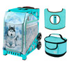 Zuca Sport Bag - Husky with Gift  Turquoise/Brown Seat Cover and Turquoise Lunchbox (Turquoise Frame)