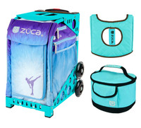 Zuca Sport Bag - Ice Dreamz with Gift  Turquoise/Brown Seat Cover and Turquoise Lunchbox (Turquoise Frame)