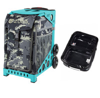 Zuca Sport Bag - Anaconda with Gift  One Large and Two Mini Utility Pouches (Turquoise Frame)