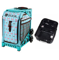 Zuca Sport Bag - Bowz with Gift  One Large and Two Mini Utility Pouches (Turquoise Frame)