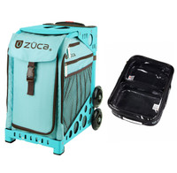 Zuca Sport Bag - Calypso with Gift  One Large and Two Mini Utility Pouches (Turquoise Frame)