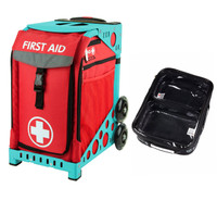 Zuca Sport Bag - First Aid with Gift  One Large and Two Mini Utility Pouches (Turquoise Frame)