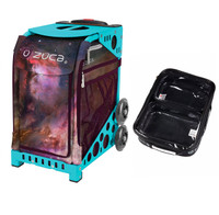 Zuca Sport Bag - Galaxy with Gift  One Large and Two Mini Utility Pouches (Turquoise Frame)