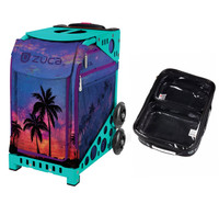 Zuca Sport Bag - Island Life with Gift  One Large and Two Mini Utility Pouches (Turquoise Frame)