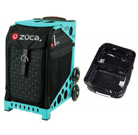 Zuca Sport Bag - Mystic with Gift  One Large and Two Mini Utility Pouches (Turquoise Frame)