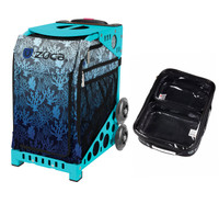 Zuca Sport Bag - Reef with Gift  One Large and Two Mini Utility Pouches (Turquoise Frame)