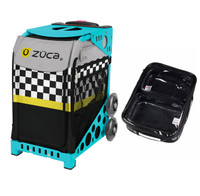 Zuca Sport Bag - Sk8ter Block with Gift  One Large and Two Mini Utility Pouches (Turquoise Frame)