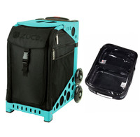 Zuca Sport Bag - Stealth with Gift  One Large and Two Mini Utility Pouches (Turquoise Frame)