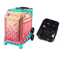 Zuca Sport Bag - Sunset with Gift  One Large and Two Mini Utility Pouches (Turquoise Frame)