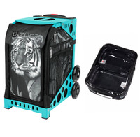 Zuca Sport Bag - Tiger with Gift  One Large and Two Mini Utility Pouches (Turquoise Frame)