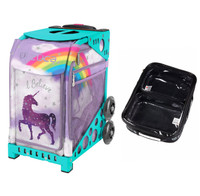 Zuca Sport Bag - Unicorn 2 with Gift  One Large and Two Mini Utility Pouches (Turquoise Frame)