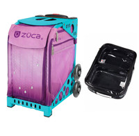 Zuca Sport Bag - Velvet Rain with Gift  One Large and Two Mini Utility Pouches (Turquoise Frame)