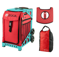 Zuca Sport Bag - Chili with FREE Stuff Sack and Seatcover  (Turquoise Frame)