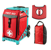 Zuca Sport Bag - First Aid with FREE Stuff Sack and Seatcover  (Turquoise Frame)