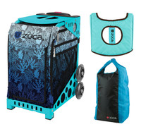 Zuca Sport Bag - Reef with FREE Stuff Sack and Seatcover  (Turquoise Frame)