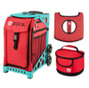 Zuca Sport Bag - Chili with Gift  Seat Cover and  Lunchbox (Turquoise Frame)