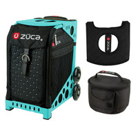 Zuca Sport Bag - Mystic with Gift  Seat Cover and  Lunchbox (Turquoise Frame)