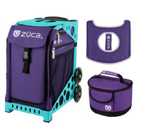 Zuca Sport Bag - Rebel with Free  Seat Cover and  Lunchbox (Turquoise Frame)
