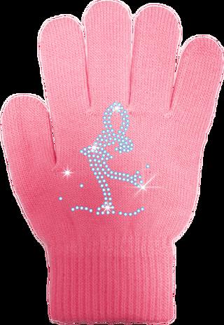 ChloeNoel Ice Skating Gloves - GV22 (Mini Lay-Back Skater Crystals)