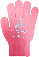 ChloeNoel Ice Skating Gloves - GV22 (Mini Lay-Back Skater Crystals)