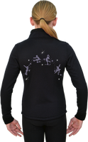 ChloeNoel JS883P Contract Elite Polartec Spiral Fleece Figure Skating Jacket with Crystals Combinations