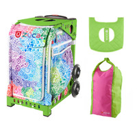 Zuca Explosion Bag with Gift Lunchbox and Zuca Stuff Sack (Green Frame)