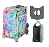 Zuca Explosion Bag with Gift Lunchbox and Stuff Sack - Hot-Rod (Grey Frame)