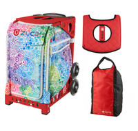 Zuca Explosion Bag with Gift Lunchbox and Zuca Stuff Sack - Hot-Rod (Red Frame)