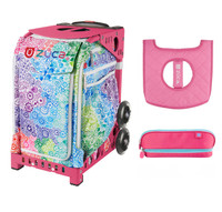 Zuca Explosion Bag with Seat Cover and Zuca Pencil Case (Pink Frame)