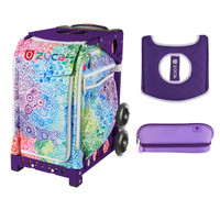 Zuca Explosion bag with Seat Cover and Zuca Pencil Case (Purple Frame)