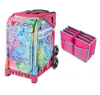 Zuca Explosion Bag with Pink Frame with Zuca Document Organizer - Pink (Pink Frame)