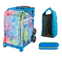 Zuca Explosion Bag with Zuca Stuff Sack and Zuca Pencil Case (Blue Frame)
