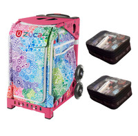 Zuca Explosion bag with Gift 2 Small Utility Pouch (Pink Frame)