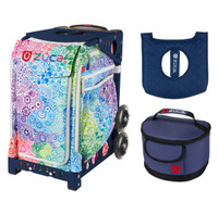 Zuca Explosion bag + FREE Lunchbox and Seat Cover (Navy Frame)