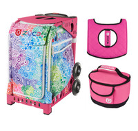 Zuca Explosion bag with Pink Lunchbox and Hot Pink Seat Cover (Pink Frame)