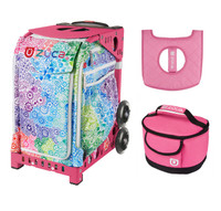 Zuca Explosion bag with Pink Lunchbox and Seat Cover (Pink Frame)