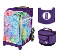 Zuca Explosion bag with FREE Lunchbox and Seat Cover (Purple Frame)