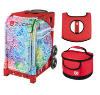 Zuca Explosion bag with Gift Lunchbox and Sear Cover (Red Frame)