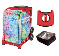 Zuca Exposition with FREE Seat Cover and Zuca Utility Pouch(Small) (Red Frame)