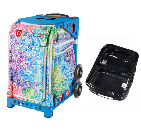 Zuca Explosion bag + FREE Zuca Utility Pouch Combo Set - One Large and Two Mini Utility Pouches (Blue Frame)