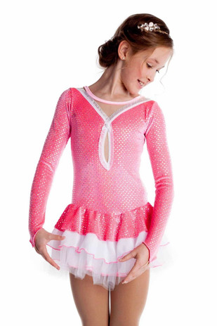 Elite Xpression - Silver and Pink Ballet Dress