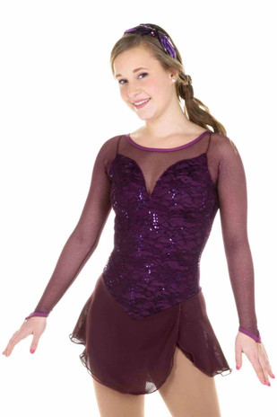 Elite Xpression - Mature Simplicity Dress - Plum