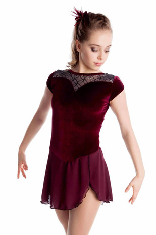 Elite Xpression - Gracie Gold Inspiration Dress - Burgundy