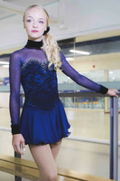 Elite Xpression - Classic Navy Dress Beaded