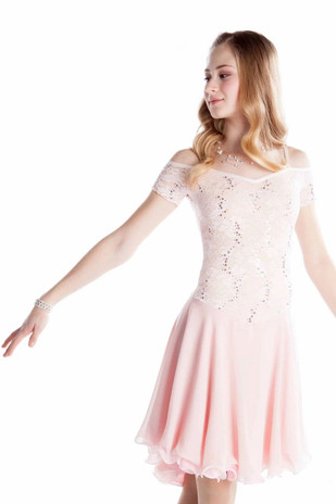 Elite Xpression - Blush Lace Dance Dress