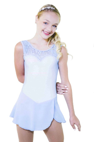 Elite Xpression - Blue Dress with Lace Top