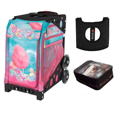 Zuca Cotton Candy (with Black Frame) with FREE Seat Cover and Zuca Utility Pouch(Small)