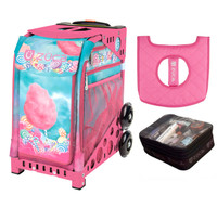 Zuca Cotton Candy (with Pink Frame) with FREE Seat Cover and Zuca Utility Pouch(Small)