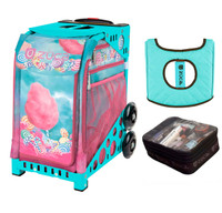 Zuca Cotton Candy (with Turniquoise Frame) with FREE Seat Cover and Zuca Utility Pouch(Small)